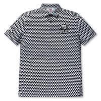 【WAAC】MENS プレイヤーズエディション シーズンパターン 半袖ポロシャツ ブラック/072304006
