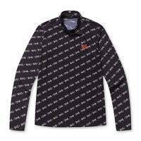 【WAAC】WOMENS ロゴプリント モックネック Tシャツ ブラック/072312058