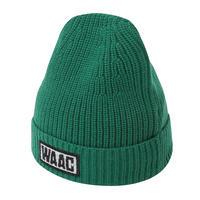 【WAAC】カラーニット帽 グリーン/072304836