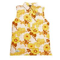 【ZOY】JAMS フラワープリントWOMENSノースリーブシャツ オレンジ/071602010