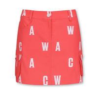 【WAAC】WOMENSロゴプリント スカート レッド/072312351
