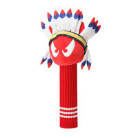 【WAAC】インディアンWAACKYウッド用ヘッドカバー レッド/072302847