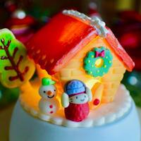 雪の日ヘクセンハウス|LEDライト付きオブジェ