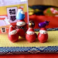 【お正月飾り】一富士二鷹三茄子 初夢フルセット|オブジェ|畳付き
