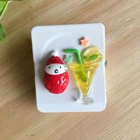 レモンジュースの苺ぼうや/挟めるマグネット