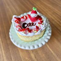 苺祭り 苺の猫型ケーキ オブジェ(ケーキ台付き)