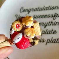 苺ぼうやのクッキー詰め合わせブローチ(クリップ付き)