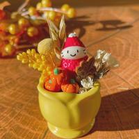 秋の苺ぼうや|チューリップの器|秋のお飾り