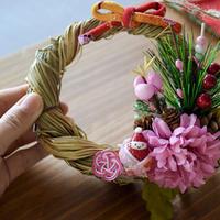 【正月飾り】しめ飾りS 17cm 吊るし紐付き