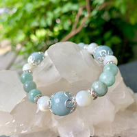【Oriental beauty】ブルーグリーン翡翠ブレスレット