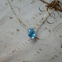 Tie Necklace -Swiss Blue Topaz