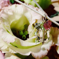 Bouquet Pierce & Earrings -Eustoma