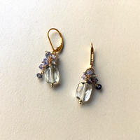 "bouquet pierce & earrings ""Delphinium and Eryngium"""