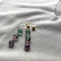 Hoop Pierced Earrings - Fluorite