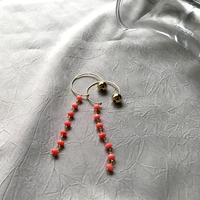 Hoop Pierced Earrings - Pink Coral