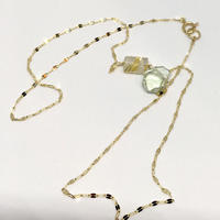 Green amethyst & Rutile K10 Necklace