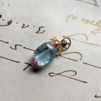Blue Topaz, Sapphire, Ruby & K10YG Charm