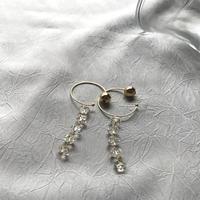 Hoop Pierced Earrings - Lemon Quartz