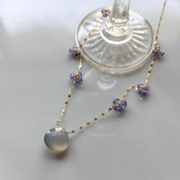 BON BON Necklace -Blue Chalcedony