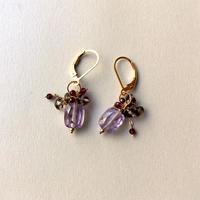 """bouquet pierce & earrings """"Deep Purple """""""