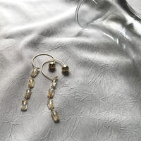 Hoop Pierced Earrings - Rutilelated Quartz