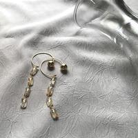 Hoop Pierced Earrings - Rutilelated Quartz
