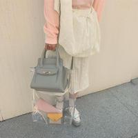 KOTOHA YOKOZAWA classic Bag×PVC Bag(GRAY)