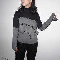 kotohayokozawa high neck rib knit