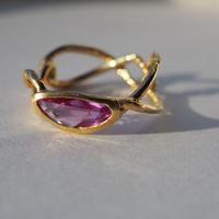 Atlica pink sapphire ring