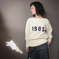 SIIILON Numbering knit sweater