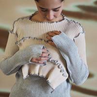 kotohayokozawa rib knit crew neck