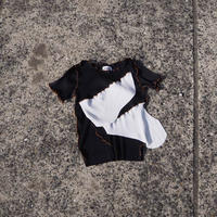 kotohayokozawa todo short sleeve pleats top(black)
