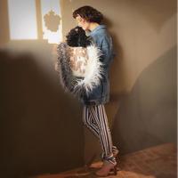 pono'i  cow pattern eco fur bag(beige)