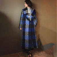 PAPER LONDON rainbow coat check wool coat
