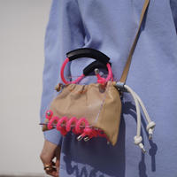 SCOTRIA - BERG BAG W/STRAP - beige × pink