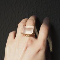 Atlica quartz ×emerald ring
