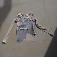 kotohayokozawa todo long sleeve pleats top