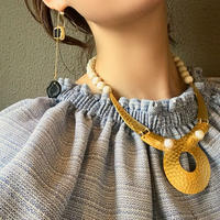 pono'i   gold wood necklace