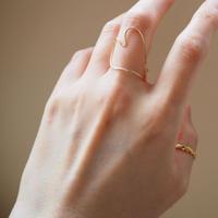 Atlica -heart ring ll- gold