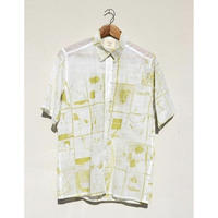 ACCIDENTE CON FLORES GIL(lemon lime print shirt)