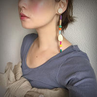 pono'i   wood long earring【A】