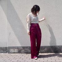DECO depuis 1985 flower print velvet pants
