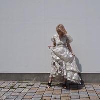 DREAM sister jane -Lasso Flora Ruffle Hem Maxi Dress-