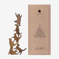 Cat Pile【パープル】地味にはまる!大人のつみき 色んなポーズのネコのジェンガ 全5種類(A73001)