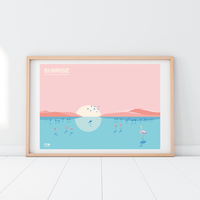 SUNRISE Flamingo | A2 Poster