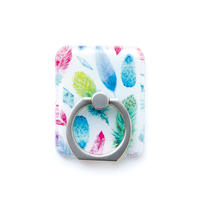 Smart phone ring (Feather x silver)