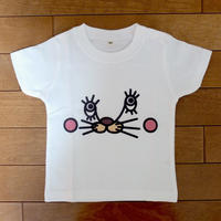 うさねこTシャツ(ベビー:白)