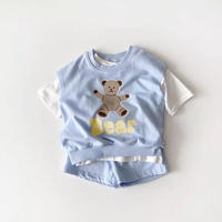 4color Bear重ね着セットアップ(1616)