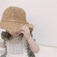 細リボン麦わら帽子(718)