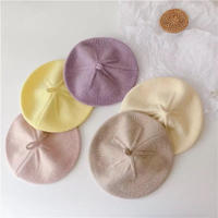 6color パステルカラーベレー帽(1414)